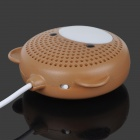 Aopu A-30 Urso Estilo Single-Channel Mini Speaker - Brown + Branco