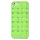 Cool Protective Woven Hollow-out Grid Plastic Hard Back Cover Case for Iphone 5 - Green