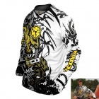 Scoyco T117-L Motorcycle Racing Protection T-Shirt - Black + White + Yellow (L Size)