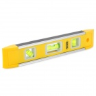 Magnetic Torpedo 3-Bubble Spirit Level Gradienters - Yellow Green + Silver