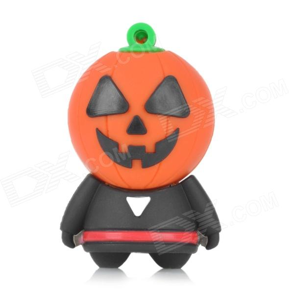 Mr. Pumpkin Cartoon Style USB 2.0 Flash Drive - Orange + Black (4GB)