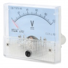 DC 0~100V Square Panel Mounting Analogue Voltage Meter - White
