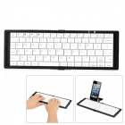 KB-801 80-Key Folding Bluetooth V3.0 Wireless Keyboard - Black + White