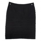 Fashion Beautiful Slim Wrapped Skirt for Women - Black