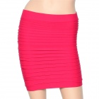 Fashion Beautiful Slim Wrapped Skirt for Women - Deep Pink