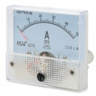DC 0~50A Square Panel Mounting Analog Amp Current Meter Ammeter - White