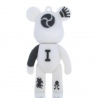 MOMO Bear Cartoon Style USB 2.0 Flash Drive - White + Black (4GB)