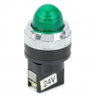Green Light LED Instrument Indicator Lamp for Electric DIY - Green + Black (24V)