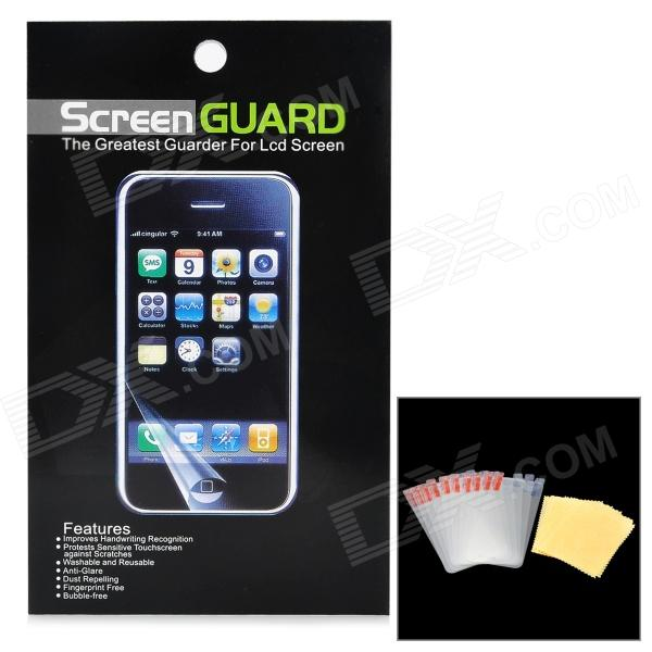 Protective Glossy Screen Protectors w/ Cleaning Cloths for Ipod Touch 5 - Transparent White (10 PCS) protective glossy lcd screen protectors set for iphone 5 transparent 10pcs
