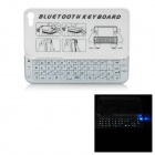 Ultra-Thin 51-Key Bluetooth v3.0 Slid-Out Wireless Keyboard w/ Cover for Iphone 5 - White