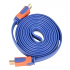 1080p HDMI 1.4 Male to Male Flat Cable - Blue + Orange (173cm)