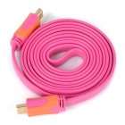1080p HDMI 1.4 Male to Male Flat Cable - Deep Pink + Orange (173cm)
