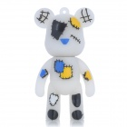 MOMO Bear Cartoon Style USB 2.0 Flash Drive - White (8GB)