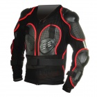 Fashion Protective Motorcycle Riding Rennen Rüstung w / Square Hole - Black + Grey + Red (XXL)