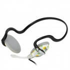 Feinier FE-S369 Behind-the-neck Style Stereo Headphone w/ Microphone - White + Green + Yellow