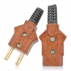 Female + Male Power Plug Adapter for Stage Light - Brown + Black (250V / 40A)