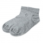 Fashion Man's Pure Cotton Stockings - Grey (Pair)