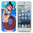 JNSTYLE04 Gangnam Style Psy Pattern Protective Plastic Hard Back Case for iPhone 5 - Multi-Colored