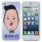 JNSTYLE03 Gangnam Style Psy Pattern Protective Plastic Hard Back Case for iPhone 5 - White