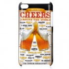 Cheers Pattern Protective PC Hard Back Case for Ipod Touch 4 - Multi-Colored
