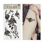 HM273 Rose Pattern Tattoo Paper Sticker - Black