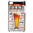 Order Beer Pattern Protective PC Hard Back Case for Ipod Touch 4 - Multi-Colored