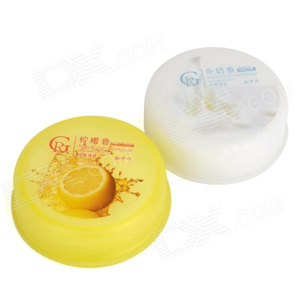 Leche / Lemon Scent Pads Nail Varnish Remover (32 x 2 PCS)