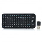 G16A 2.4GHz 78-Key Wireless Air Mouse + QWERTY Keyboard - Black