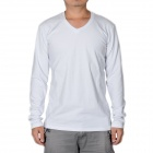 Fashion Mannes V Stil Kragen Modal + Cotton Long Sleeve T-Shirt - Grau (Größe XL)