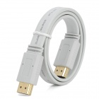 1080P Gold Plated HDMI V1.4 Male to Male Flat Cable - White (50cm)
