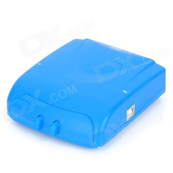 2-Port Printer Manual Sharing Switch - Blue