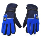 Winter Warm Keeping Fleeces Gloves - Blue + Black