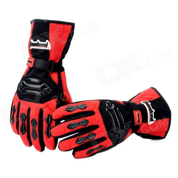 Tanked TVC-22 Full-Fingers Motorcycle Racing Warming Gloves - Red + Black (Pair / Size XL) good hand full fingers cycling gloves black red pair size xl