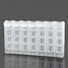 EL-028 7 Day Dispenser Compartments Pill Box - Transparent (7 x 4 Cases)