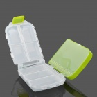 Multi-Function Three Layer Portable Pill Case Organizer Box - Green + Transparent (8-Grid)