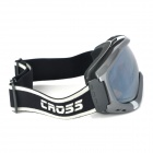 T815-28 Silver Coated Tan Dual Layer Lens Safety Skiing Goggles - Grey Frame
