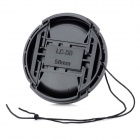 LC-2 Universal 58mm Camera Lens Cover Cap w/ Lanyard - Black