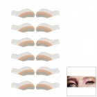 MAXDONA YYT-14 Cosmetic Instant Eye Shadow - Coral + Grey + White (6 Pairs)