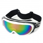 T815-30 Colorful Coated Grey Dual Layer Lens Safety Skiing Goggles - White Frame