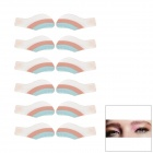 MAXDONA YYT-18 Cosmetic Instant Eye Shadow - Sky Blue + Rosy Brown + White (6 Pairs)