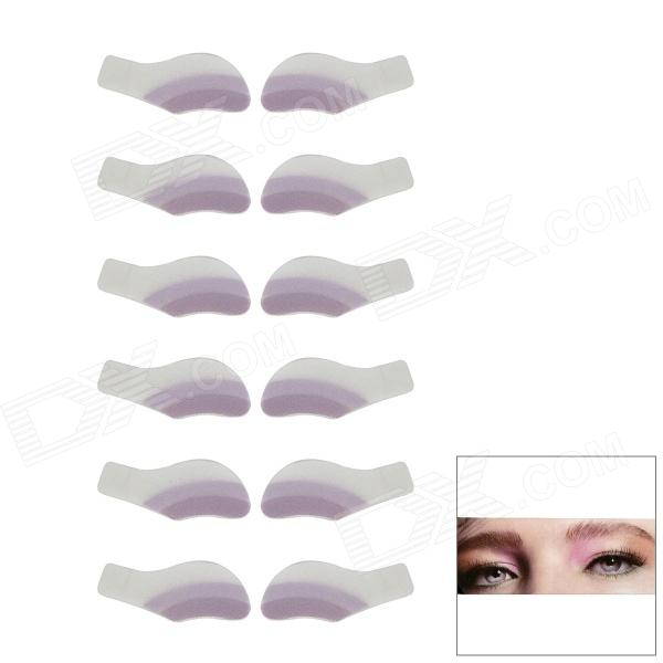 MAXDONA YYT-07 Cosmetic Instant Eye Shadow - Thistle + Plum + White (6 Pairs)