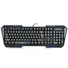 AULA SO EVIL USB Wired Professional 114-Key Gaming Keyboard w/ Red Backlit - Black (180cm-Cable)
