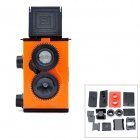 LOMO-001 DIY Assemble Plastic Twin Lens Reflex Camera - Red + Black
