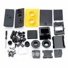 LOMO-001 DIY Assemble Plastic Twin Lens Reflex Camera - Yellow + Black