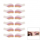 MAXDONA YYT-15 Cosmetic Instant Eye Shadow - Light Salmon + Plum + White (6 Pairs)