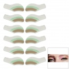 MAXDONA YYT-11 Cosmetic Instant Eye Shadow - Pale Green + Grey + White (6 Pairs)