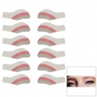 MAXDONA YYT-21 Cosmetic Instant Eye Shadow - Light Coral + Grey + White (6 Pairs)