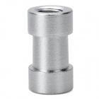 "1/4"" and 3/8"" Female Threaded Aluminum Alloy Screw Adapter Spigot Stud - Silver"