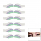 MAXDONA YYT-12 Cosmetic Instant Eye Shadow - Purple + Turquoise + White (6 Pairs)