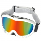 T815-28 Grey with Red REVO Dual Layer Lens Safety Skiing Goggles - White Frame